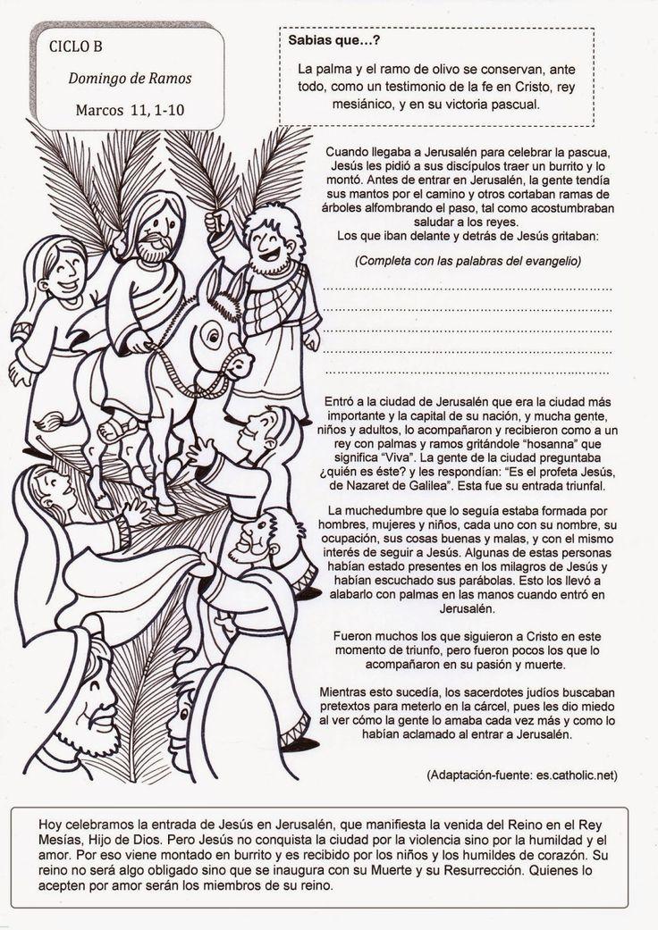 El Rincón de las Melli: Domingo de Ramos - CICLO B