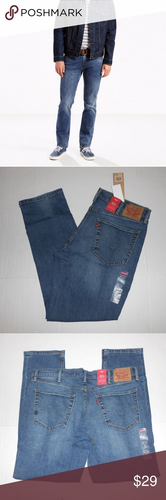 "Levis 511 Slim Fit Sz 38x32 Brand new pair of Levis 511 38x32 slim fit jeans.   Measurements Waist: 19"" across Inseam: 30.5"" Levi's Jeans Slim"