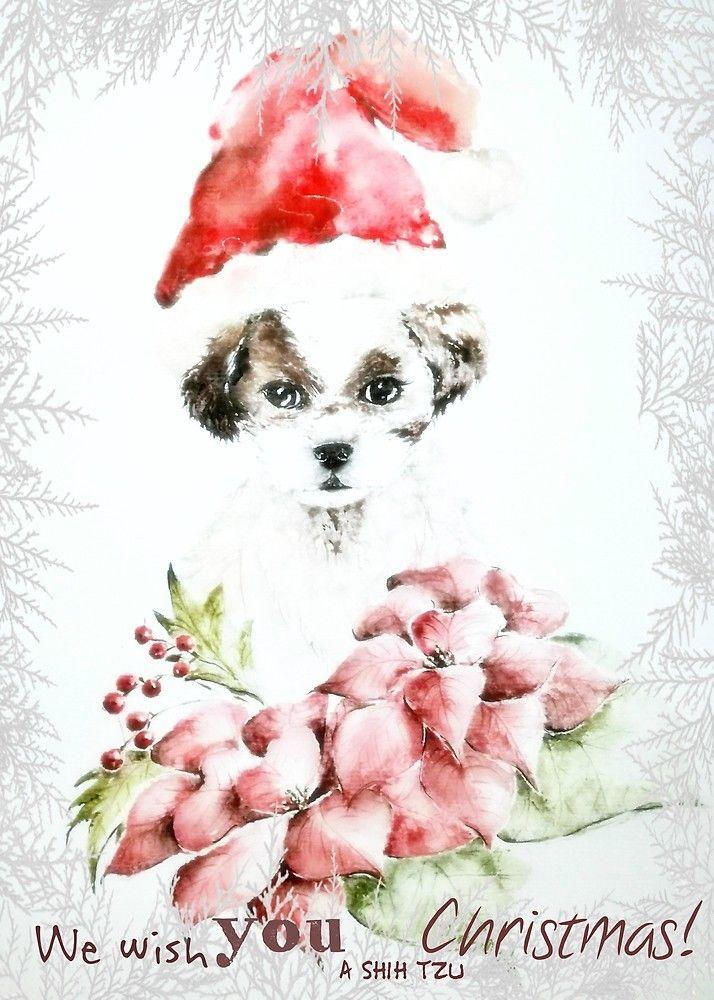 A Shih Tzu Christmas by AdrianaMijaiche