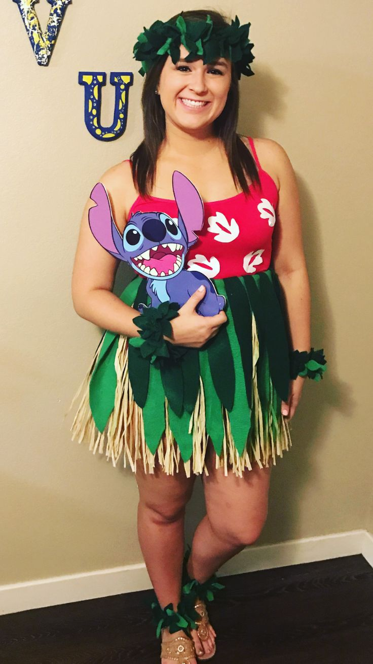 DIY Lilo and Stitch Costume #Halloween #Lilo #Stitch #DIY #Costume