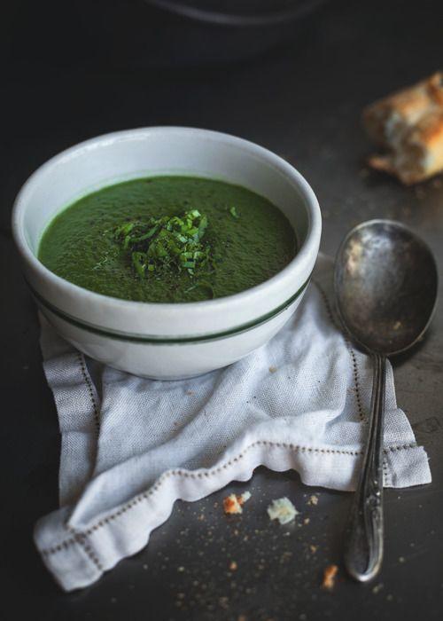 Spinach, avocato, green peas velouté