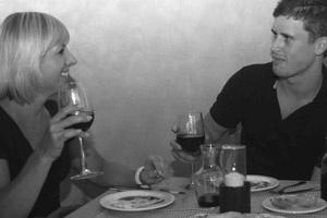 Fine dining at La Pizza Pazza