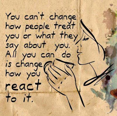 You can't change how people that ...