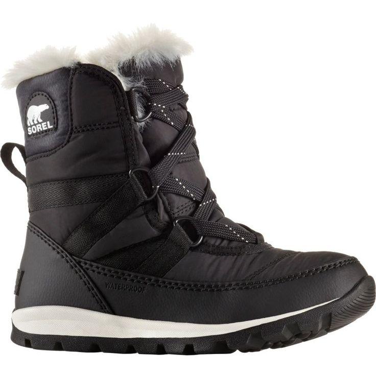 Sorel Kids' Whitney Short Lace 200g Waterproof Winter Boots, Black