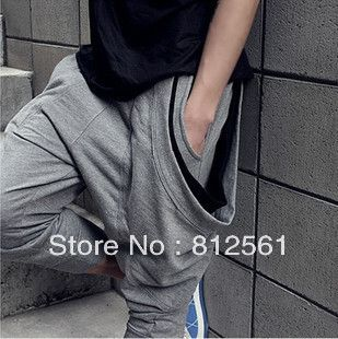 freeshippingUnique flying squirrel three pocket baggy pants men,mens harem pants,Relaxed Cropped sweatpants for menSize:M-XXL,