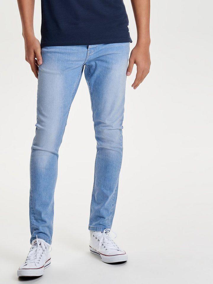 only sons spun light blue slim fit jeans. Black Bedroom Furniture Sets. Home Design Ideas