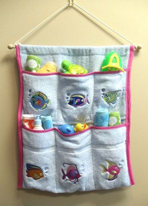Machine Embroidery Designs Inspired Project ~ Splish Splash Bath Caddy