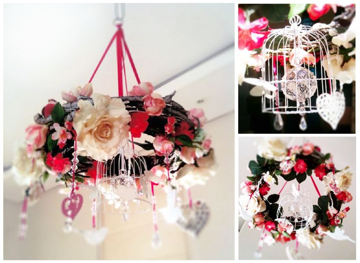 Baby mobile wreath