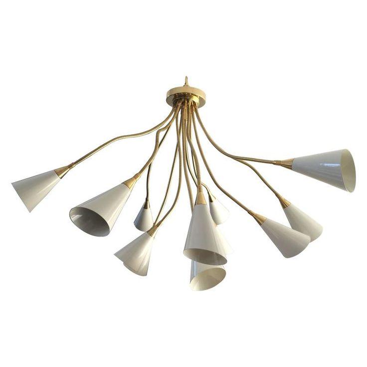 Arteluce Style Flush Mount Chandelier | 1stdibs.com