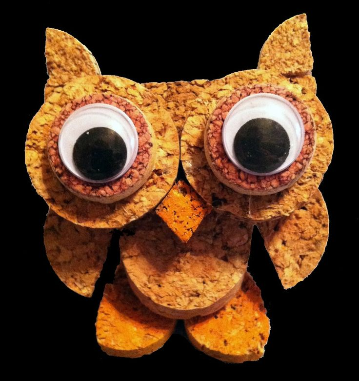 CoRK OwL ____CorkCreations ____KristinaSeekampSchaaf