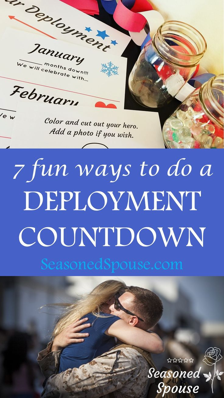 Milspouse and milso, use these 7 fun deployment countdown ideas to get you through the next deployment or TDY.