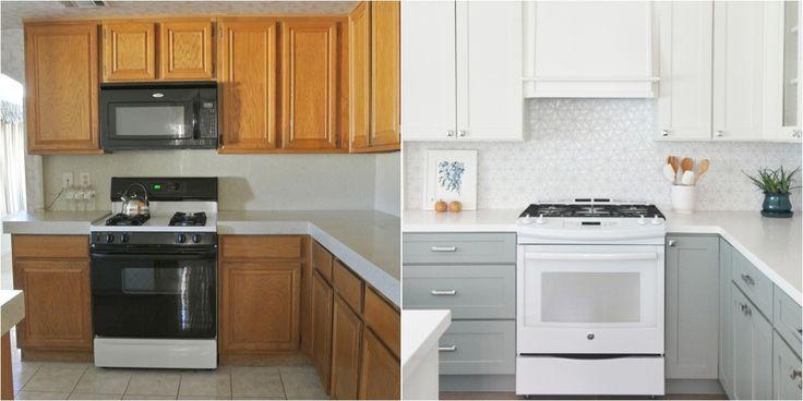 Antes y despues cocinas pintadas chailk paint cerca amb - Pintar muebles de cocina antes y despues ...