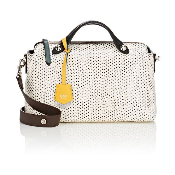 Fendi Women's By The Way Small Shoulder Bag ($3,050) ❤ liked on Polyvore featuring bags, handbags, shoulder bags, no color, white purse, fendi purse, shoulder handbags, polka dot handbags and fendi