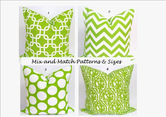 GREEN+Pillows.ALL+SIZES.Decorator+Pillow+by+ElemenOPillows+on+Etsy,+$14.00