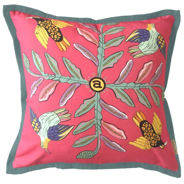 Ardmore Bird Crossing Watermelon Cushion
