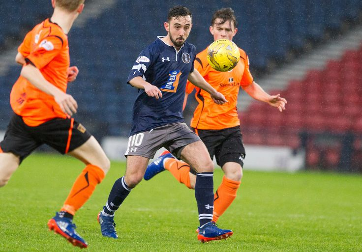 Queen's Park's Anton Brady in action during the Ladbrokes League One game between Queen's Park and Stranraer.