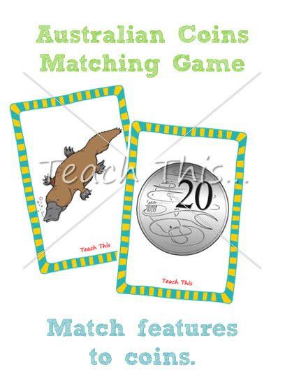Australian Coins Matching Game