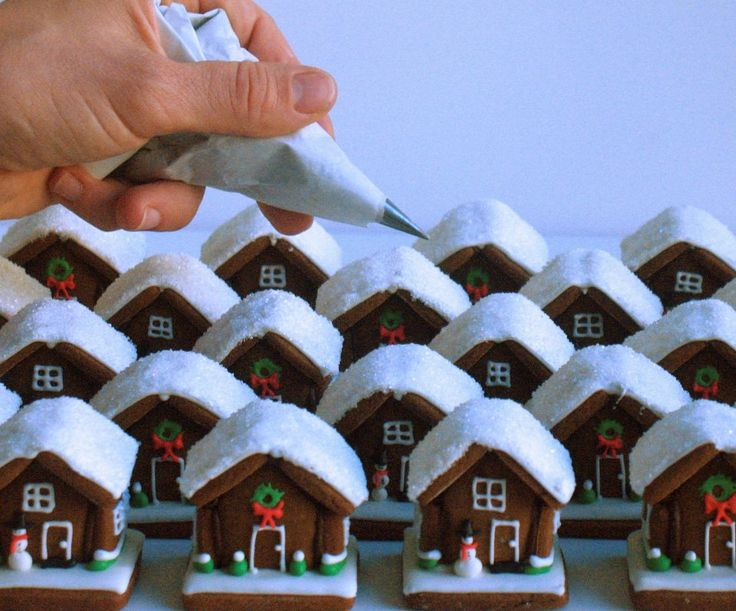 Oh my gosh!!  Right?!  Eeensy weensy teeny gingerbread houses!  I must try.