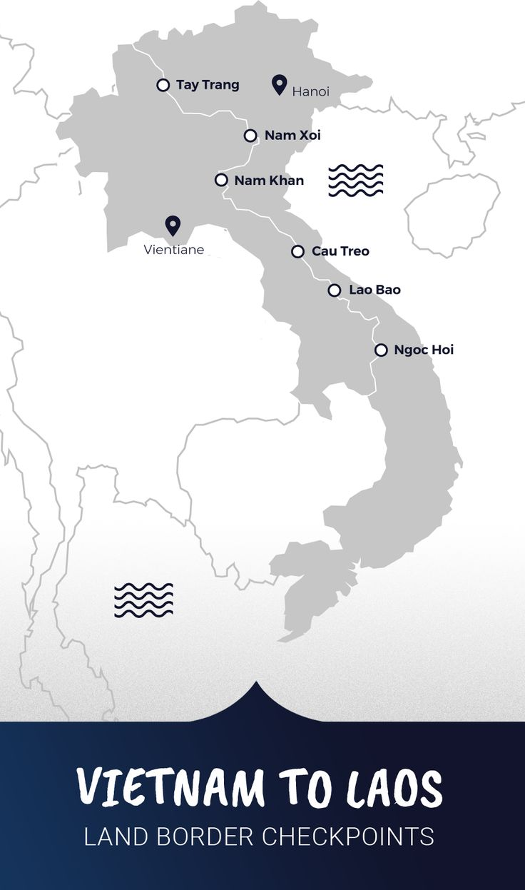 Vietnam scrapbook ideas - Vietnam Land Border Checkpoints Map For Travelers Crossing To Laos Overland Read All About It At
