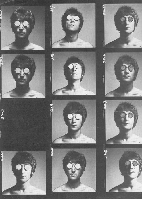 Lennon / Avedon contact sheet
