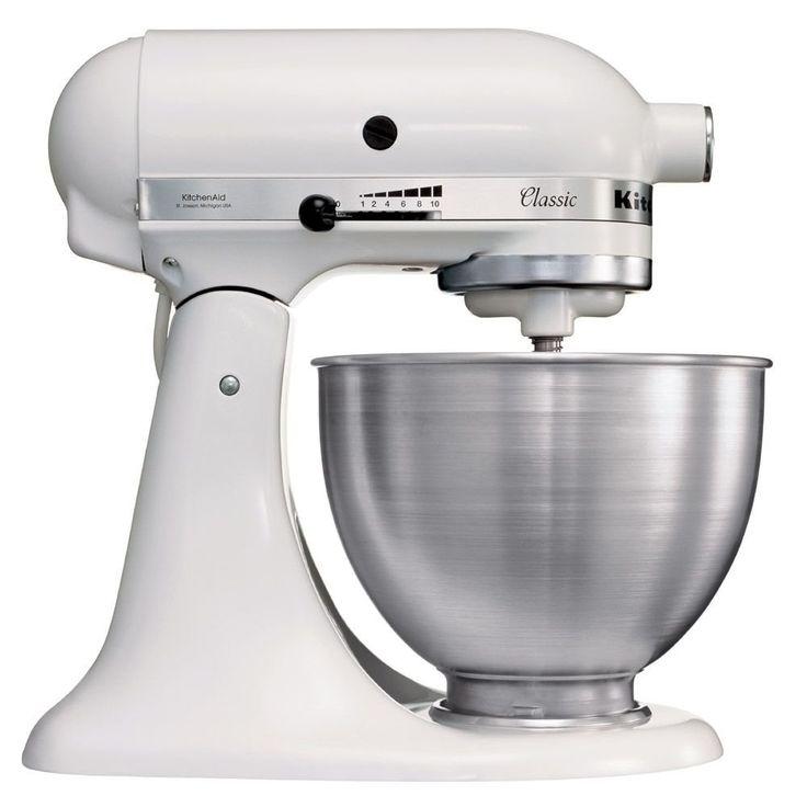 """Kitchenaid 5K45SSEWH Série """"Classic"""" Robot Mixeur Multifonctions Blanc: Amazon.fr: Cuisine & Maison"""