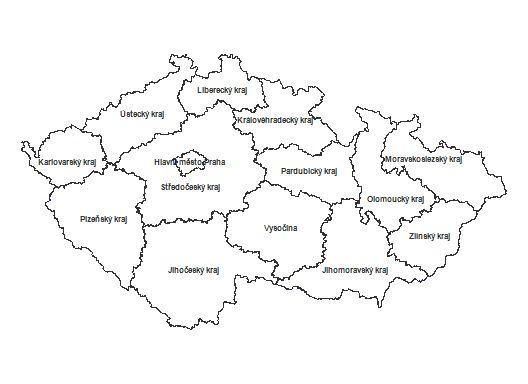 mapa - výběr kraje