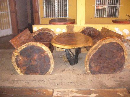 Muebles rusticos muy originales en madera dolega for Muebles vanitorios rusticos
