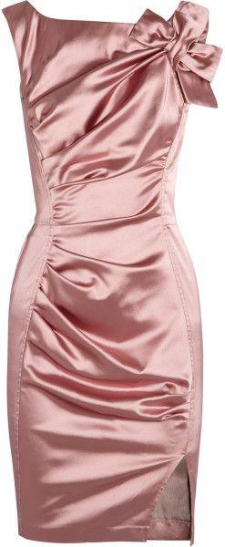 Nina Ricci Pink Ruched Satin Dress