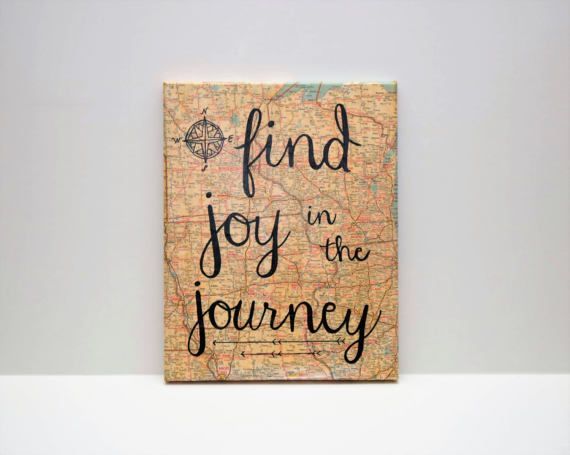 International Map Canvas w/ Quote