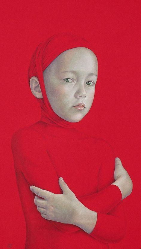 Salustiano Garcia Cruz - Contemporary Artist - Spain - Red #rojo #retrato
