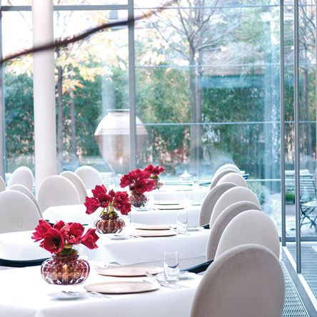 The FACIL restaurant (2 Michelin stars), located in the heart of Berlin