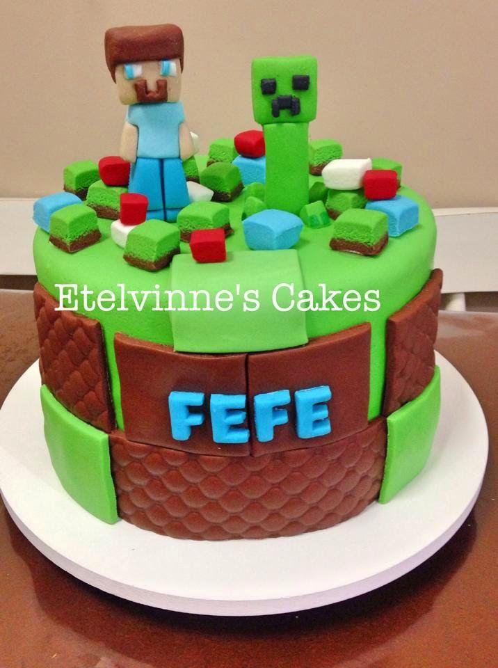 Etelvinne's Cakes: Bolo Minecraft