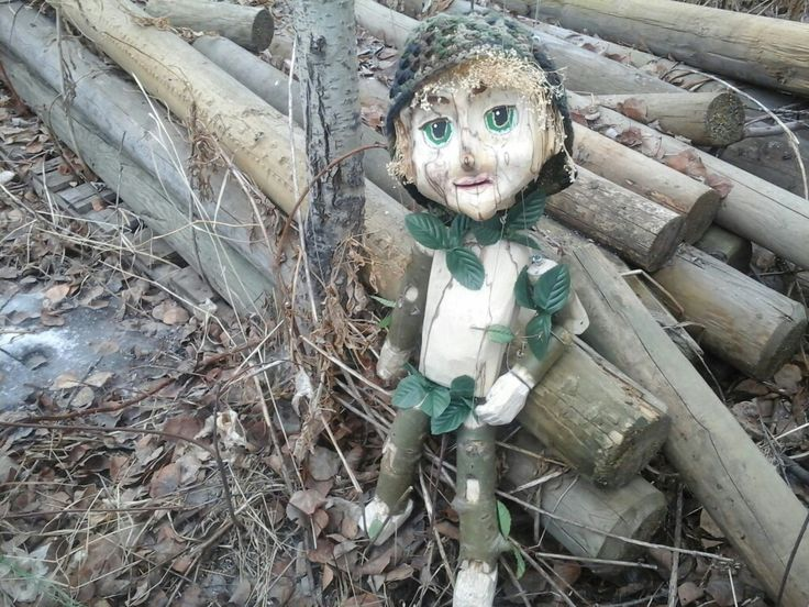 Wood carved marionette puppet