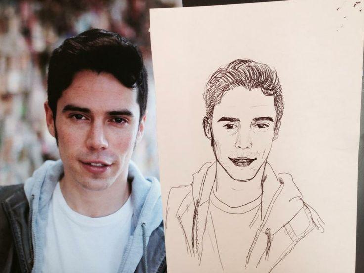 Comparación de el retrato con la imagen real de Samuel González