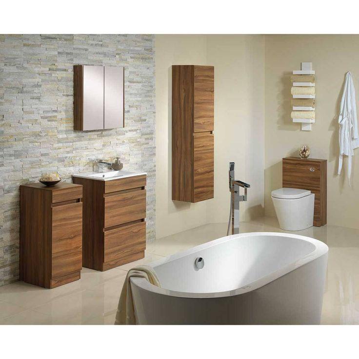 Plan walnut floor mounted 600 drawer unit basin for Bathroom cabinets victoria plumb