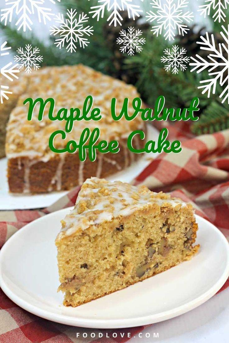 Maple Walnut Coffee Cake Recipe In 2020 Coffee Cake Coffee Cake Recipes Homemade Coffee Cake