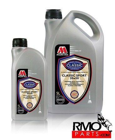 Aceite semi sintético multigrado 20W50 para clientes exigentes y motores de altas prestaciones hasta principios de los 80's. La aportación de contenido sintético aumenta la fluidez en frio, baja…