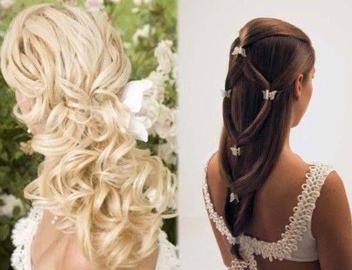 Peinados para primera comunion con tiara buscar con - Peinados sencillos para comunion ...