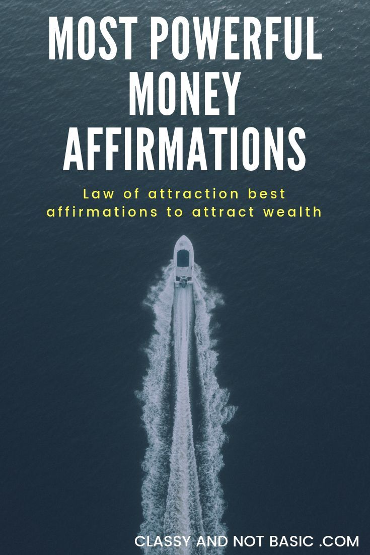 Law of attraction powerful money affirmations