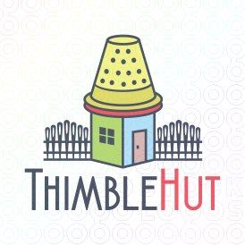 Exclusive Customizable Logo For Sale: Thimble Hut   StockLogos.com