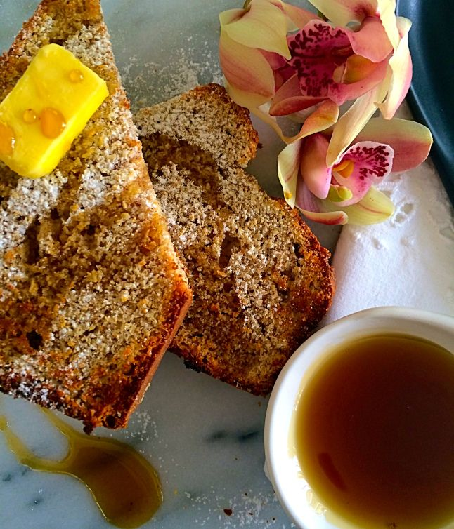 Toasted Coconut Bread With Maple Syrup