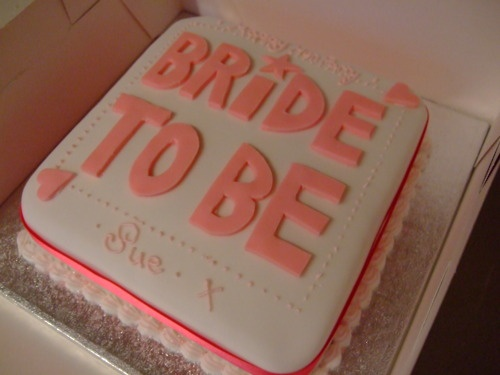 BRIDAL SHOWER party cake