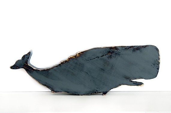 Wooden Whale Pictured in GreyPine Wood Sign Wall by ThePineNuts, $28.00