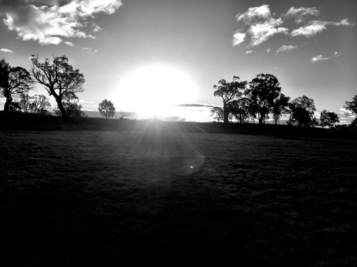Black and White sunset at the farm. #sunset #blackandwhite
