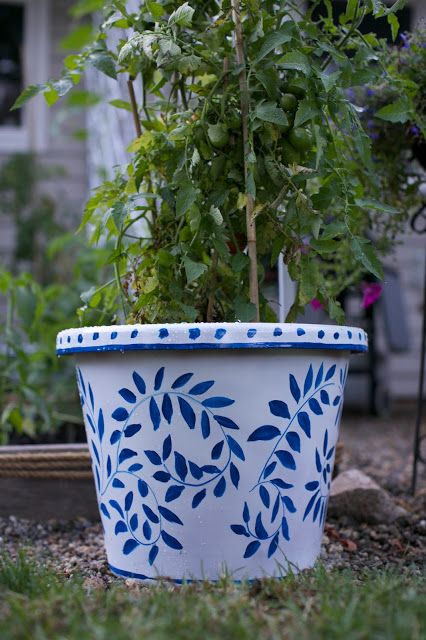 Painted pots in less than one hour Garden/ Patio Makeover Reveal