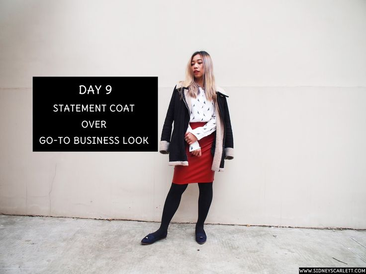 Sidney Scarlett: Statement Coat Over Go-To Business Look WhoWhatWear