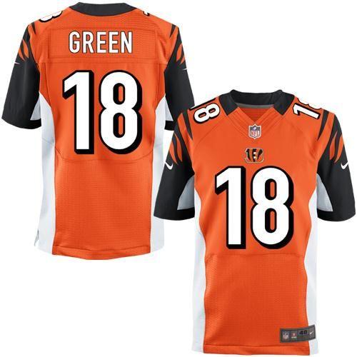 Nike A.J. Green Cincinnati Bengals Elite Jersey – Orange