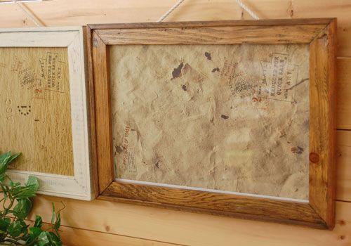 【オールドウッドフォトフレームLライトブラウン/ホワイト】木製のおしゃれな写真額縁です。ナチュラルなカントリー風の手作り写真フレーム。アンティーク風が可愛い人気のアートフレーム。結婚祝い、出産祝い、記念写真。写真枠・収納・ケース
