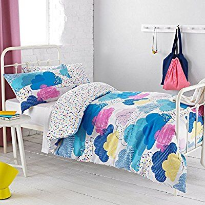 Textile Warehouse Clouds Pink Blue White Girls Kids Childrens Duvet Quilt Cover Bedding Set Double: Amazon.co.uk: Kitchen & Home