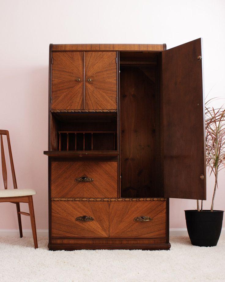 Art Deco Armoire Wardrobe Dresser Sale! by PROPAGATION on Etsy https://www.etsy.com/listing/469264048/art-deco-armoire-wardrobe-dresser-sale